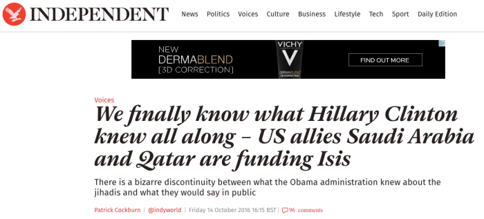 Independant Clinton Isis 1