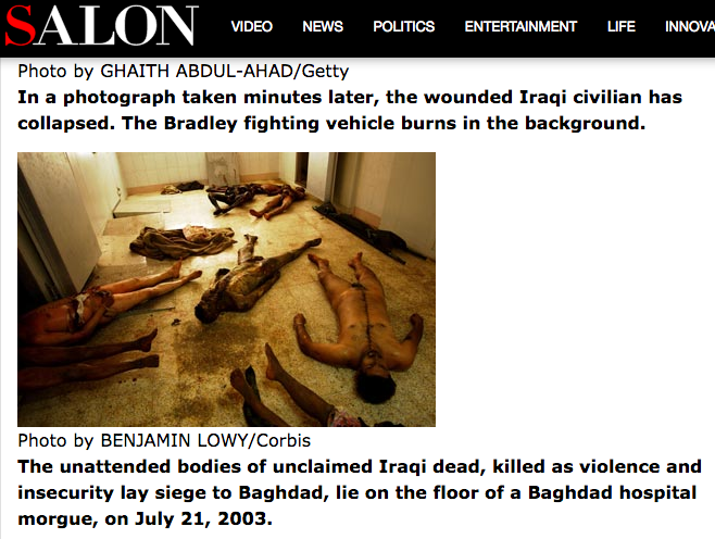 Salon Victims Iraq War