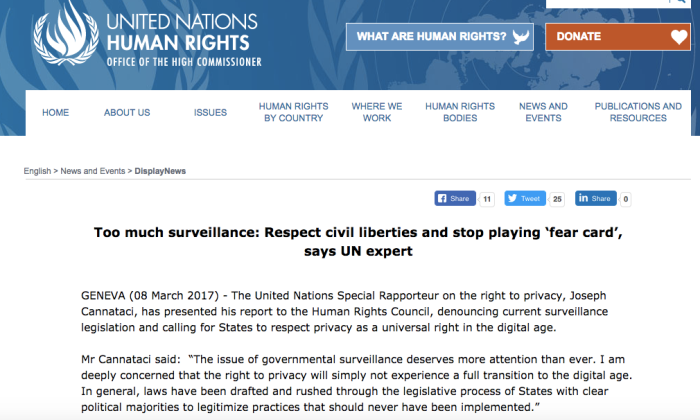 UN hUMAN RIGHTC council stop using fear card